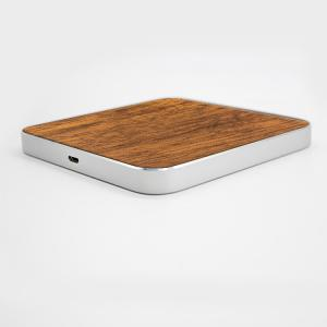 China Micro USB Port Wooden Qi Wireless Charger , Portable iPhone Charging Station on sale