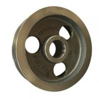 China Low Vibration V Belt Pulley Wheels Flat Belt Drive Cast Iron Pulley Wheel For Power Transmission on sale