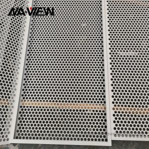 China Custom Bespoke Powder Coated Perforated Sheet Metal Panels 1220x2440mm on sale