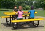 Anti - Corrosion Plastic Park Bench Picnic Table LLDPE Material Customizable Color