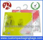 Apparel Plastic Hanger Bags With Multicolor , plastic bags printed