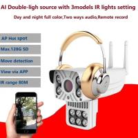 Outdoor water-proof  1080P 2Mp P2P WIFI IP camera built-in micro speaker SD card day and night full color CCTV Camer