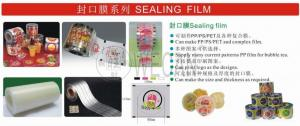 China boba bubble tea jelly juice sealing film printed as request plastic film Aluminum foil on sale