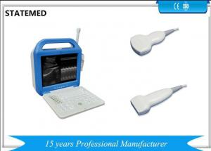 China Veterinary Portable Laptop Black / White Ultrasound Scanner With 3.5Mhz Convex Probe on sale