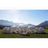 New Design Half Transparent Inflatable Bubble Tent with Five Rooms for Sale