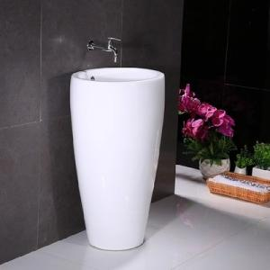 Quality Ceramic New Design Big Size Bathroom Good Round One Piece Pedestal Types Of Standing