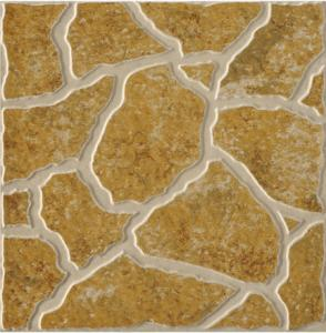 China Outdoor Glazed Ceramic Tile, Yellow Rustic Ceramic Tiles 500x500mm on sale