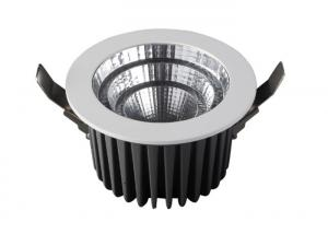 China Ra80 COB Recessed High Power Led Downlight With External Driver / Light Emitting Diode 140° on sale