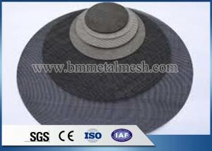 China 20 40 60 80 Mesh Black Wire Mesh Cloth/Iron Screen Filter Disc For PP PE Plastic Recycle on sale
