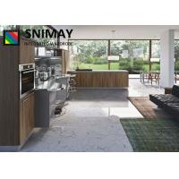 China Free Standing Modern Kitchen Cabinets / Kitchen Dining Furniture With Adhesive Film on sale