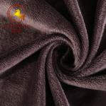 grey 3mm super soft velboa plush fabric/short pile plush fabric for blanket