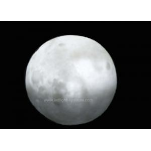 China 10cm PVC Glowing Moon LED Ball Lights Battery Powered Grey / Yellow / White Color on sale