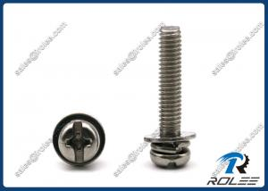 China Stainless Steel Philips Slotted Pan Head SEMS Machine Screw with Double Washers on sale