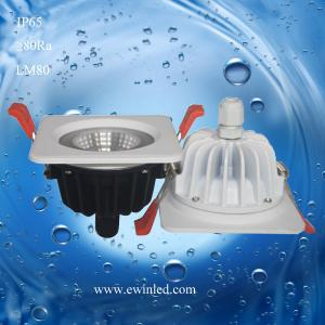 China Narrow Beam Angle 12 38 Degree COB LED Downlight Ip65 LED Shower Room Light on sale