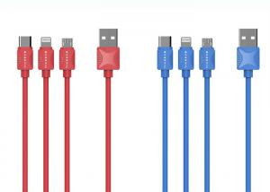 China C09 Sawtooth Data Cable Micro S033 Type-C S035 Red Blue For Android IOS supplier