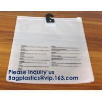 Slider Zipper Cosmetic Pvc Bag Clear Vinyl Pvc Ziplock Bag,Matte PVC Zipper Slider Bag With Ring, Bagease, Bagplastics