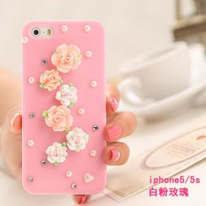 China Fashion hot sell customized China style diamond set iphone case & bags for Apple iphone on sale