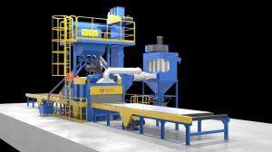 China Sa2.5 And Noise≤85 DB Q69 roller conveyor type h beam shot blasting machine on sale