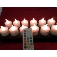 remote controlled  electromagnetic induction  rechargeable  led  candles with 12 colors