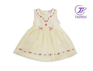 China Sleeveless Yellow One Piece Infant Flower Girl Dress Skirt, Toddler Princess Dress on sale