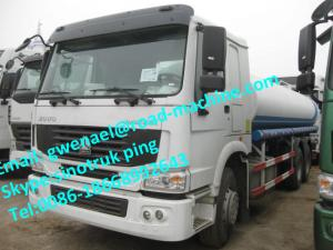 China SINOTRUK HOWO WATER / FUEL TANK TRUCK 8x4 38000L  380HP, EUROII / EURO III ZZ5207M3267N on sale