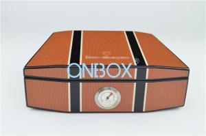 China Cajas de cigarros de madera del cedro en la alta pintura de lujo del lustre con Humidometer en modelo modificado para requisitos particulares on sale