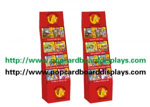 China Recycled Paper Display Stands With Glossy Varnish For Magazine with red color on sale