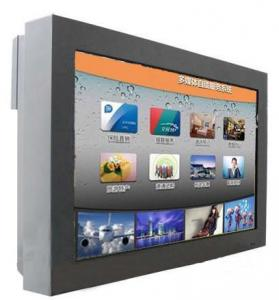 China High Definition Wall Mount Digital Lobby Signage , Outdoor Touch Screen Advertising Kiosk on sale