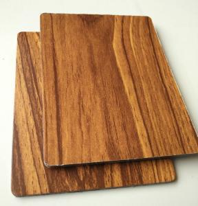 China el panel compuesto de aluminio de la textura 3m m de madera de 2m m para ketichen la cubierta de la puerta de gabinete on sale