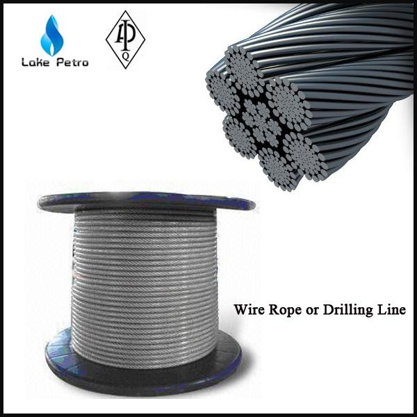 6X19+FC/IWRC left lay galvanized wire rope in drilling rig for sale ...