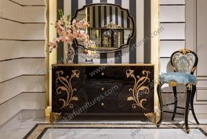 China Alibaba wholesale modern dining room black sideboard TH023 on sale