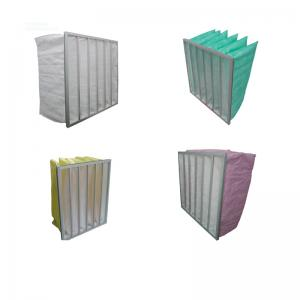 China Eco Friendly Green Pocket Hepa Home Air Filter Washable , Multi Bag Filter on sale