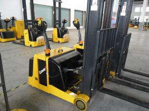 China Durable Warehouse Lift Equipment 1 Ton Electric Counterblance Pedestrian Stacker on sale