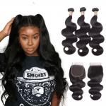 Natural Color Unprocessde Virgin Brazilian Hair Extensions For Black Women