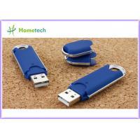 China Blue Customized Plastic USB Flash Drive 2GB / 4GB / 8GB flashdrives on sale