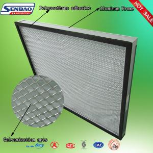 China Aluminum Frame Pleated Panel Air Filters Air Conditioning Air Filters Home on sale