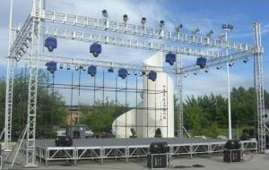 China Multifunction Bolt Concert Stage Truss / On Stage Truss Easy Installation on sale