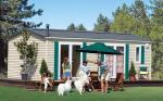 Caravanes résidentielles préfabriquées transportables, caravanes résidentielles larges simples