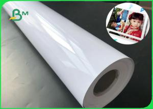 China Dye Ink 160g 180g 200g Waterproof Glossy Inkjet Paper 36 X 50m Photo Paper Roll on sale