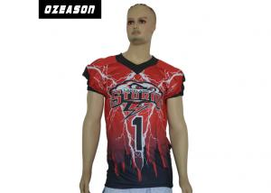 China Anti Wrinkle Custom College Football JerseysXS-6XL No Color Limit Polyester Knit on sale