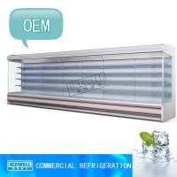 China 5m customized size supermarket chiller open upright display freezer on sale