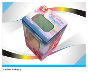 China Fancy Cake Paper Packaging Boxes Recycled With Transparent Window on sale