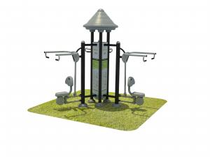 China Full Steel Outdoor Exercise Machines , Exercise Playground Equipment on sale