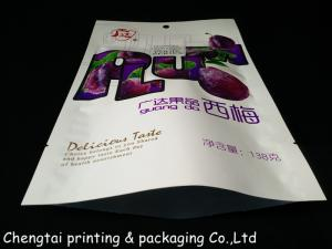 China Fashion Dried Fruit Bags / Dry Fruit Packaging Pouch With Three Layers Materials on sale