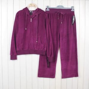 China wholesale women's yoga velvet sportwear suits girl's casual athletics clothing sets female zipper hoodie jackets on sale