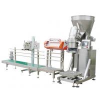 China 50kg milk powder kraft bag packing machine, wheat powder open top bag packing machine,potato starch packing machine on sale