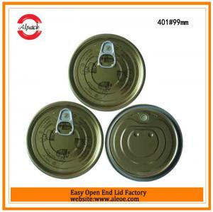 China 401 tuna fish can lid,99mm tomato paste lid,Tinplate easy open end,Tin can lid,Meat easy open lid on sale