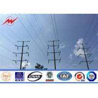 132KV 10m 10KN Steel Electric Galvanized Power Transmission Poles Octagonal Shape
