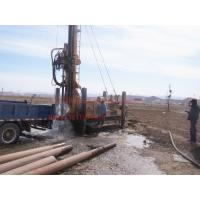 600m crawler mounted  Hydraulic borehole drilling machine with big rotation torque