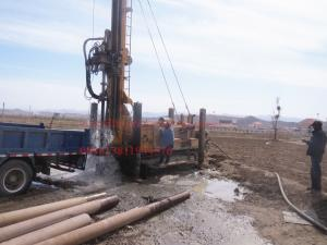 China 600m crawler mounted  Hydraulic borehole drilling machine with big rotation torque on sale
